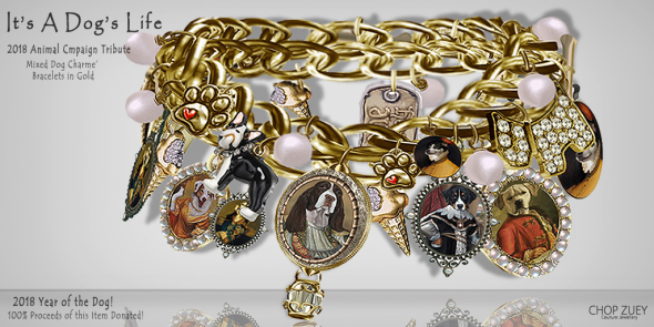 It's A Dog's Life Charme' Bracelets - Animal Campaign 2018